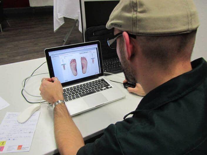 Moderne Fußanalyse