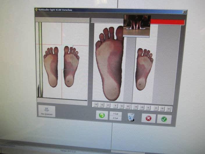Detaillierte Fußdruckanalyse